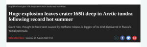 headline image related to methane explosion in permafrost