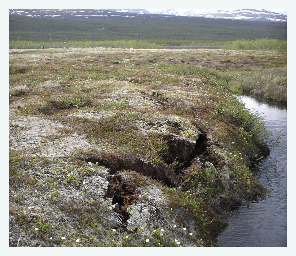 melting permafrost in the tundra